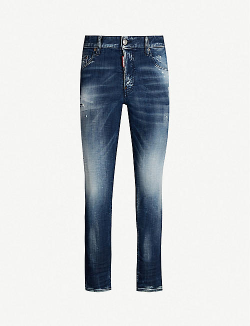 e68a68f804 DSQUARED2 Faded slim-fit straight jeans