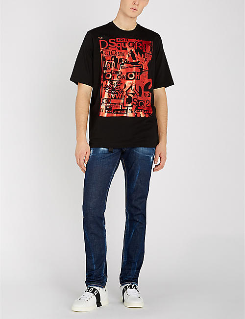 c10fc4708 DSQUARED2 Cool Guy faded slim-fit skinny jeans