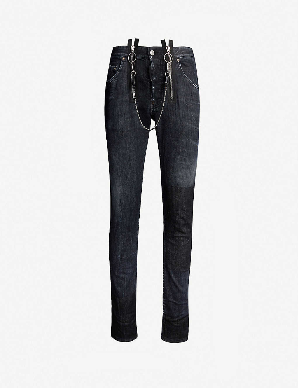 4a9e43b0 DSQUARED2 - Skater ripped slim-fit skinny jeans | Selfridges.comm