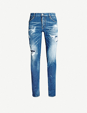 DSQUARED2 Ripped slim-fit stretch-denim skinny jeans