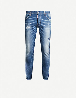 DSQUARED2: Sexy Twist stretch-denim slim-fit jeans