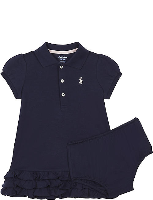 1d76e55f5c76 RALPH LAUREN Pony cotton cupcake dress 3-24 months