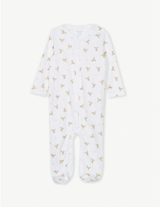 RALPH LAUREN: Polo bear cotton babygrow 0-9 months
