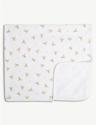 RALPH LAUREN: Bear print cotton blanket