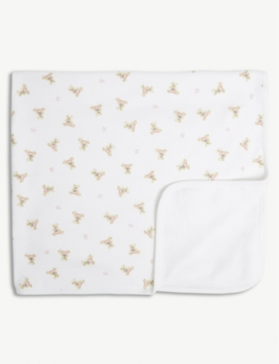 RALPH LAUREN Bear print cotton blanket