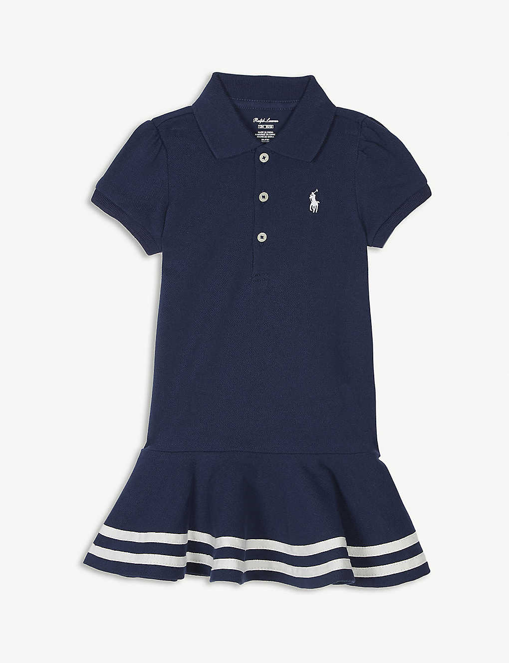 9e25b467c4 RALPH LAUREN - Striped cotton polo dress 3-24 months   Selfridges.com