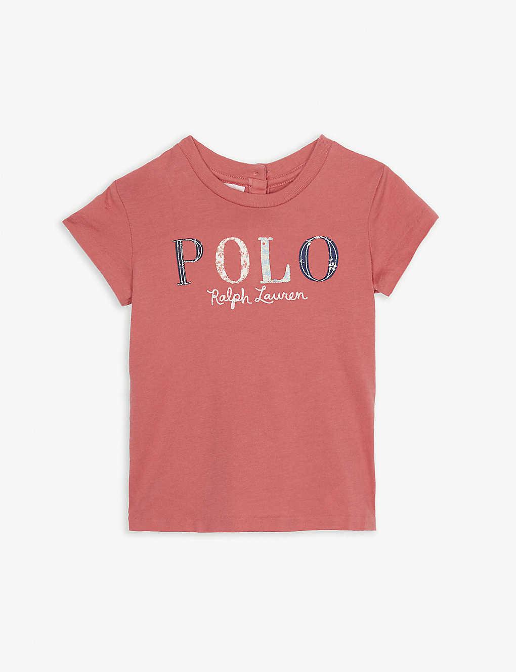 064abd269 Floral-appliqué logo cotton T-shirt 3-24 months - Adirondack berry ...