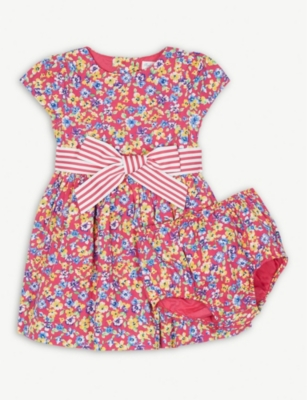 RALPH LAUREN Floral print cotton dress and bloomers set 3-18 months
