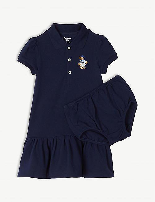 fdba50991 RALPH LAUREN Polo Bear cotton polo dress 3-24 months