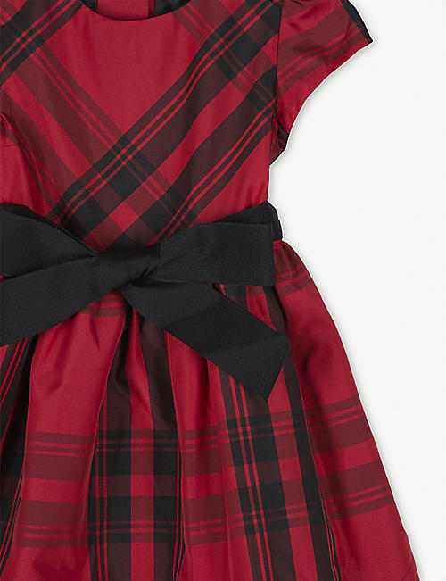 RALPH LAUREN Check-printed taffeta dress and knickers 3-24 months