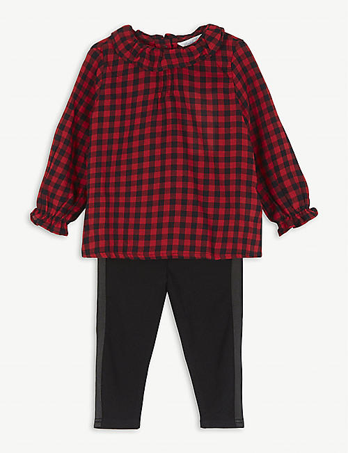 RALPH LAUREN Check top and leggings set