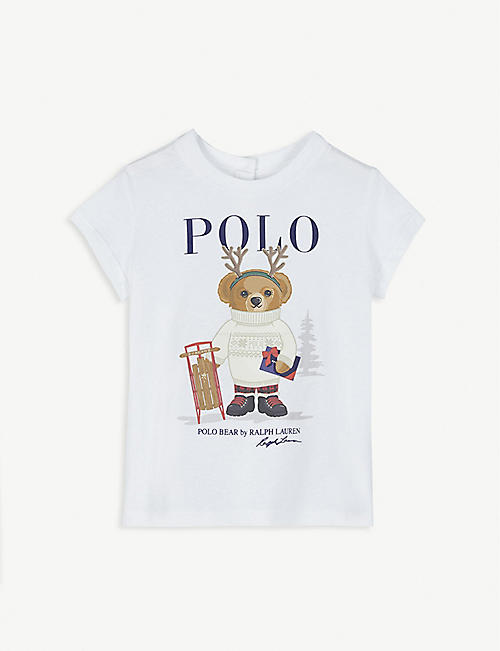 RALPH LAUREN Winter polo bear cotton T-shirt 3-24 months
