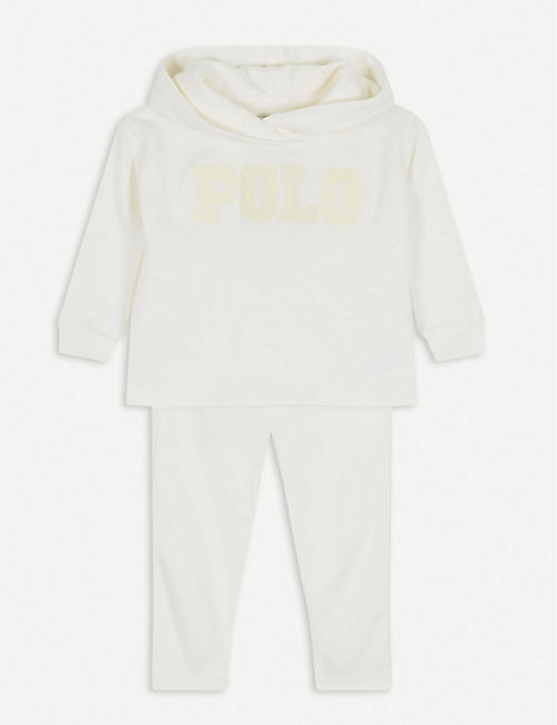 RALPH LAUREN 'Polo' embroidered cotton tracksuit set 6-24 months
