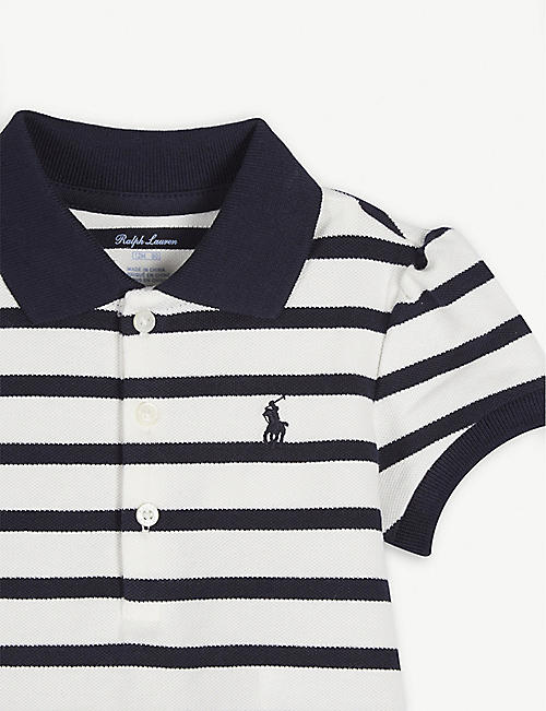 RALPH LAUREN Striped cotton polo dress 9-24 months