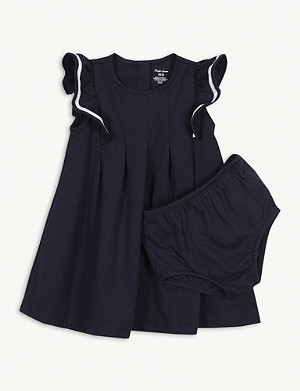 RALPH LAUREN Nautical ruffled dress and knickers set 3-24 months