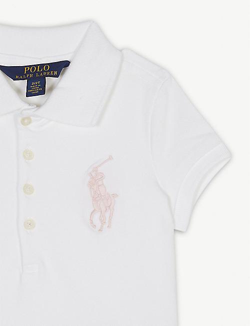 b3ee9f5d920 RALPH LAUREN Logo pique cotton polo shirt 2-6 years