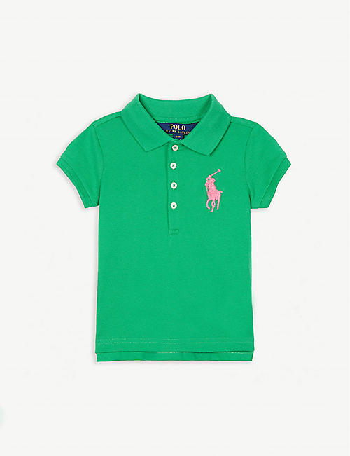 e6a5488e74b RALPH LAUREN Logo cotton-blend polo shirt 2-4 years