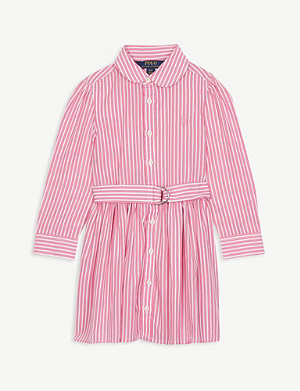 RALPH LAUREN Striped cotton shirt dress 2-6 years