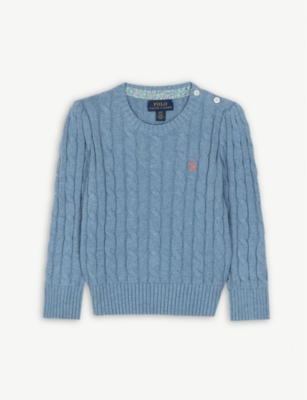 RALPH LAUREN Cotton cable knit jumper 2-7 years