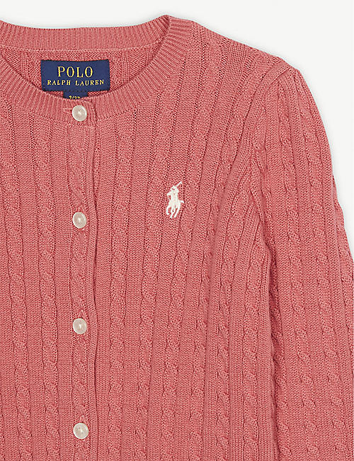 211291f15 RALPH LAUREN Cable knit cotton cardigan 2-4 years
