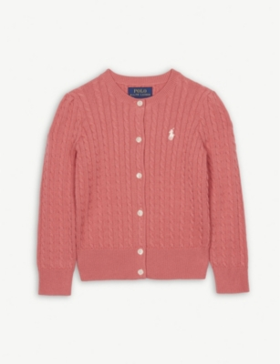 RALPH LAUREN Cable knit cotton cardigan 2-4 years