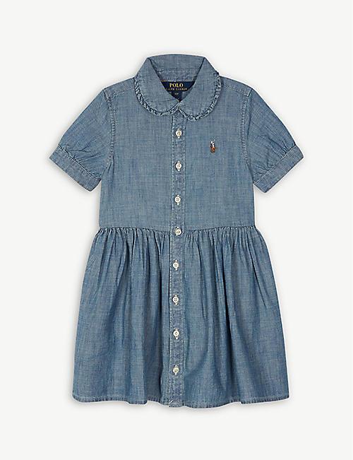 33d8a25822e RALPH LAUREN Chambray shirt dress 2-4 years