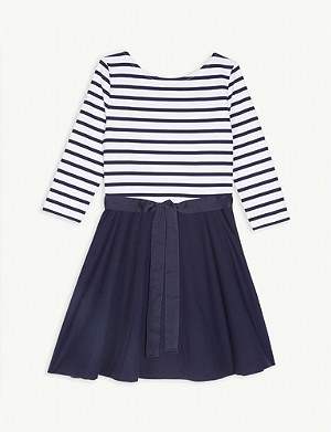 RALPH LAUREN Stripe ponte dress 4-14 years