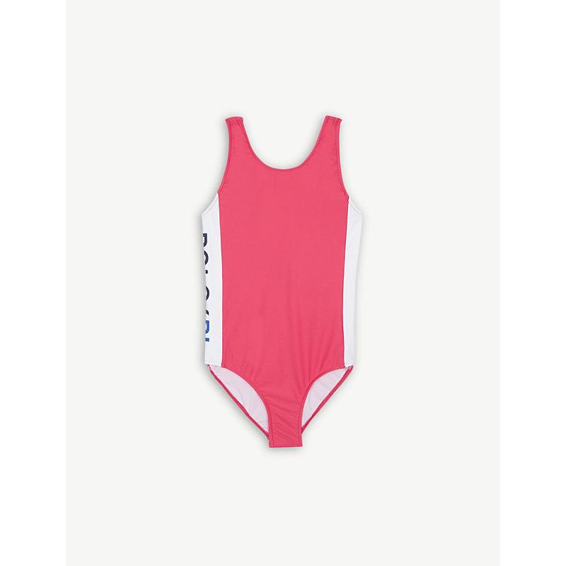 RALPH LAUREN   Logo Stripe Swimsuit 2-14 Years   Goxip
