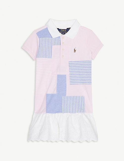 801c2b5c0 RALPH LAUREN Logo patchwork ruffled dress 2-6 years