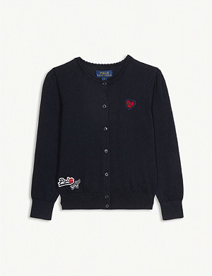 RALPH LAUREN Patches cotton cardigan 2-14 years