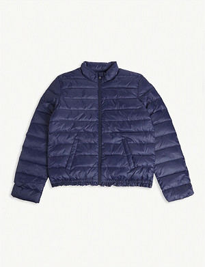RALPH LAUREN Logo-embroidered quilted puffer jacket S-XL