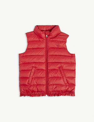 RALPH LAUREN Logo-embroidered quilted down gilet 2-6 years
