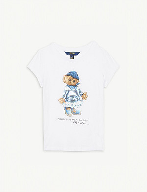RALPH LAUREN Bear print cotton T-shirt 4-14 years