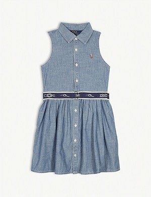 RALPH LAUREN Chambray sleeveless dress 4-14 years