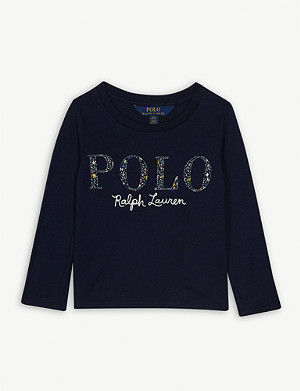 RALPH LAUREN Floral logo cotton T-shirt 2-16 years