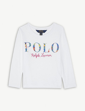 RALPH LAUREN Floral logo cotton T-shirt 2-14 years