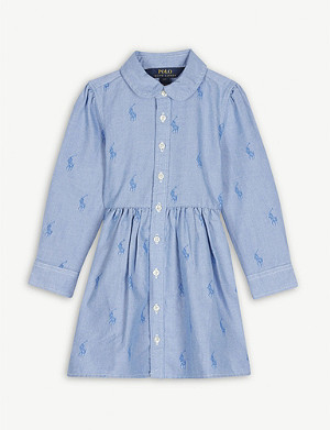 RALPH LAUREN Logo cotton shirt dress 2-14 years