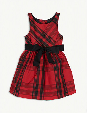 RALPH LAUREN Check-printed taffeta dress 2-4 years