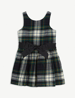 RALPH LAUREN Tartan-printed cotton dress 2-4 years