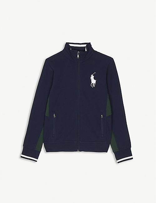 0944072b5 RALPH LAUREN Wimbledon logo zip jacket 7-14 years
