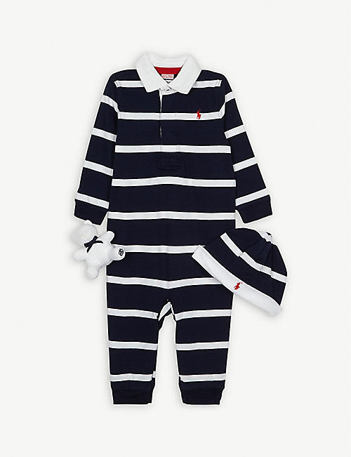 1189169bb RALPH LAUREN Cotton three-piece gift set 3-9 months
