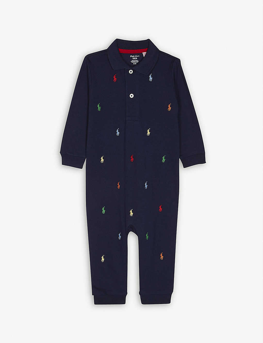 RALPH LAUREN: Logos cotton baby-grow Newborn-12 months