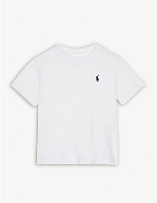 RALPH LAUREN: Pony crew-neck cotton T-shirt 3-24 months