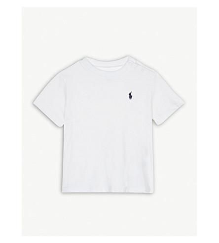 74fd51bbe RALPH LAUREN - Pony crew-neck cotton T-shirt 3-24 months ...