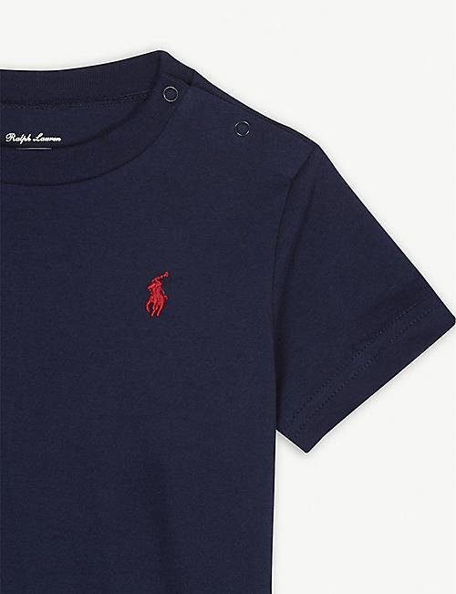 b7a823815998d RALPH LAUREN Pony crew-neck cotton T-shirt 3-24 months
