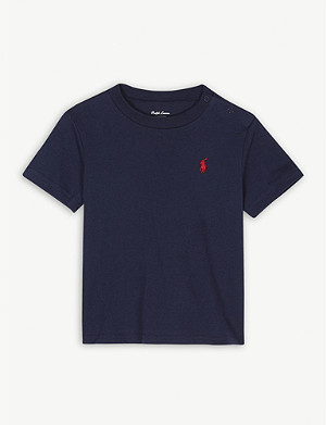 RALPH LAUREN Pony crew-neck cotton T-shirt 3-24 months