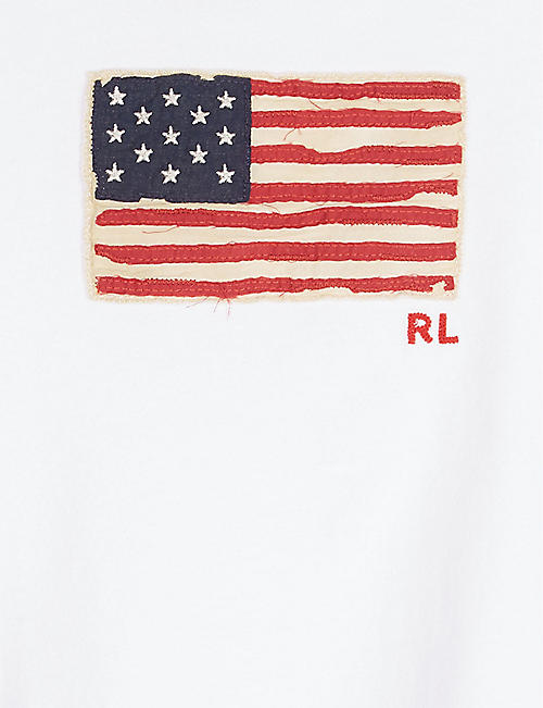 RALPH LAUREN Flag appliqué cotton T-shirt 12-36 months