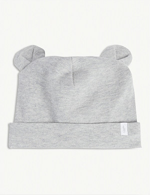 RALPH LAUREN Bear cotton hat 0-36 months