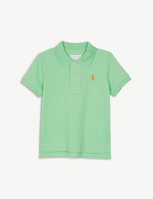 cd5d9fac RALPH LAUREN Logo cotton polo shirt 3-24 months