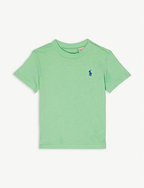3fe4abfd1d9 RALPH LAUREN Logo cotton T-shirt 3-24 months